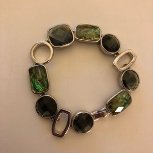 Lia Sophia Abalone and Crystal Bracelet
